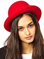Шляпа CHRISTYS арт. FASHION BOWLER cwf100005 (красный)